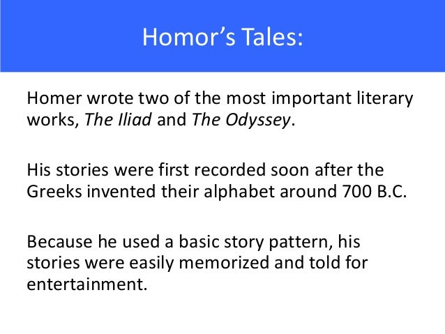 a biography of homer the man who composed the iliad and the odyssey The homeric question: theories and hypotheses concerning the authorship of the two major epics the iliad and the odyssey a recurring topic in classical studies concerns the existence (or fabrication) of homer, the author/poet of the greek epics the iliad and the odyssey.