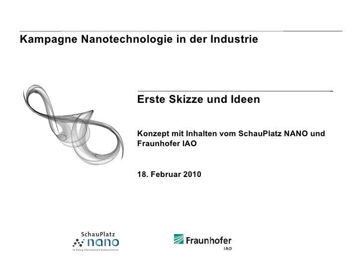 Kampagne Nanotechnologie in der Industrie                         Erste Skizze und Ideen                      Konzept mit ...
