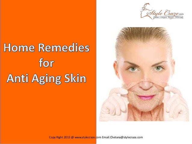 home remedies for anti aging skin