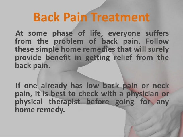 Home Remedies For Back Pain Relief 2 Back