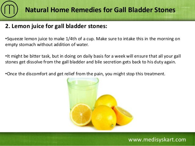 Gallstone Natural Home Remedies