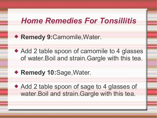 Home Remedies Tonsillitis Honey