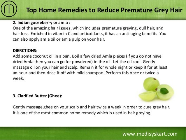 Home Remedies to Reduce Grey Hair