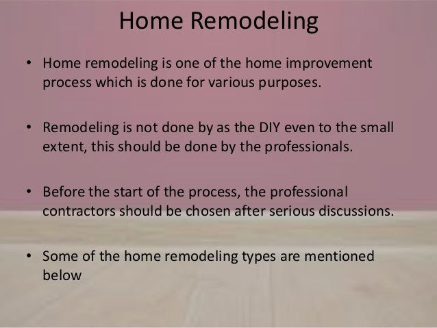 Home remodeling types and ideas Slide 2