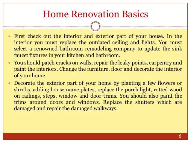 Home Renovation Basics