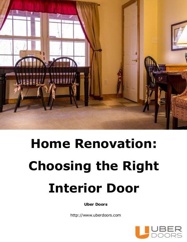 Home Renovation: Choosing the Right Interior Door Uber Doors http://www.uberdoors.com