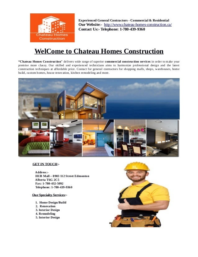 Experienced General Contractors   Commercial U0026 Residential Our Website:   Http://www 1) Home Renovations Edmonton ...