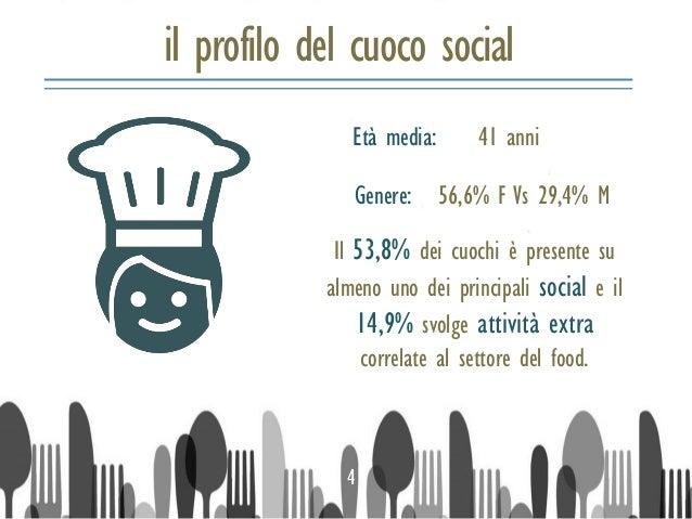 il profilo del cuoco social Il 53,8% dei cuochi è presente su almeno uno dei principali social e il 14,9% svolge attività ...