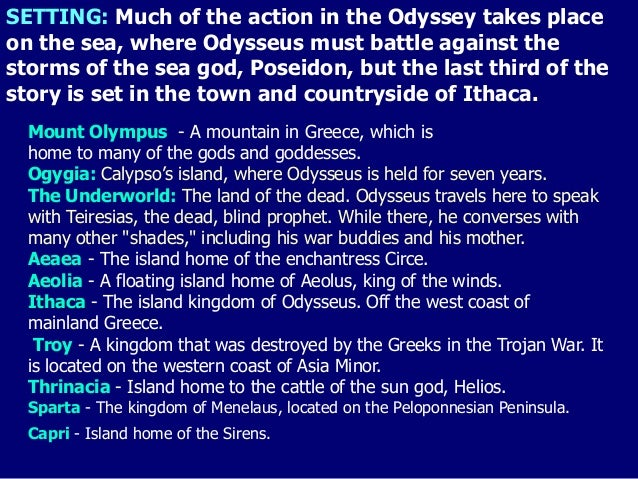 the setting of the odyssey