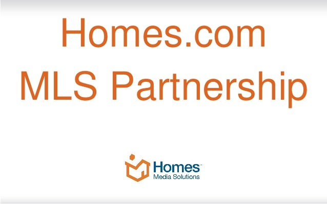 Homes.comMLS Partnership