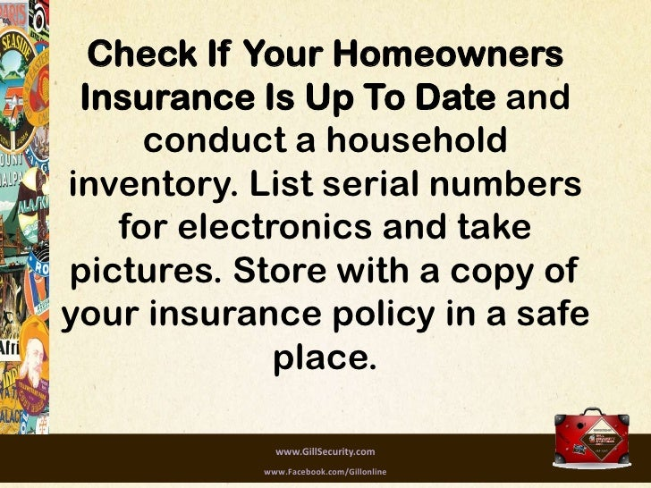 home safety checklist while on vacation