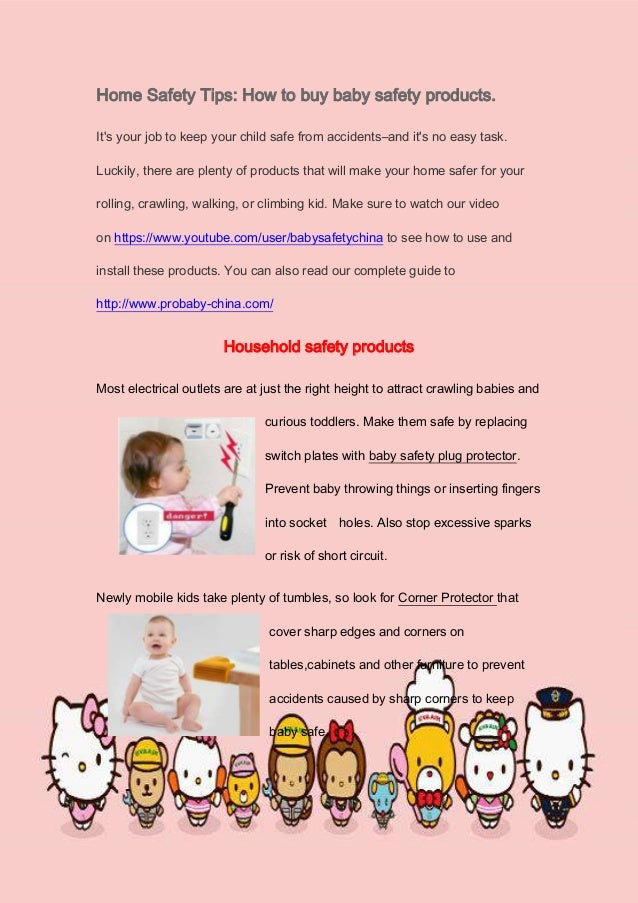 Home Safety Tips How To Buy Baby Safety Products
