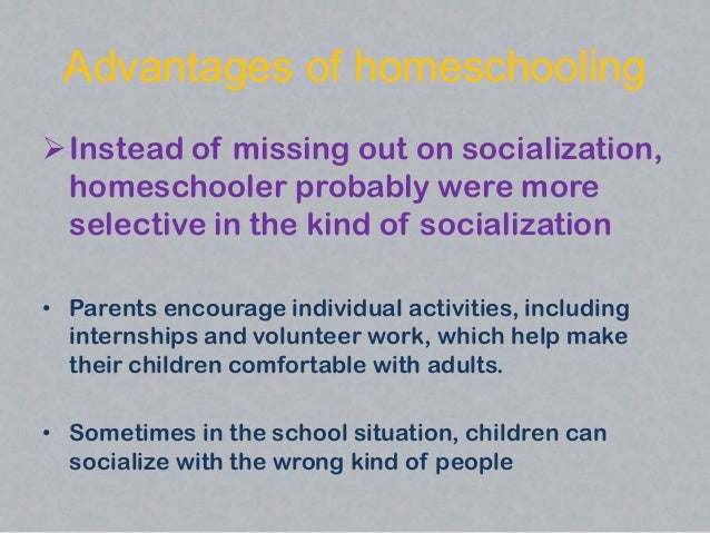 Homeschooling Benefits