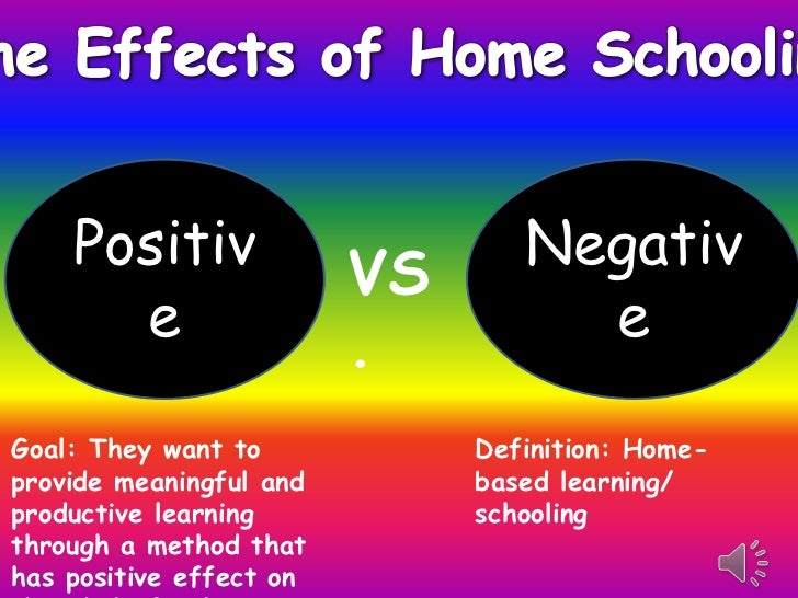 Positiv              VS      Negativ      e                  .         eGoal: They want to            Definition: Home-pro...