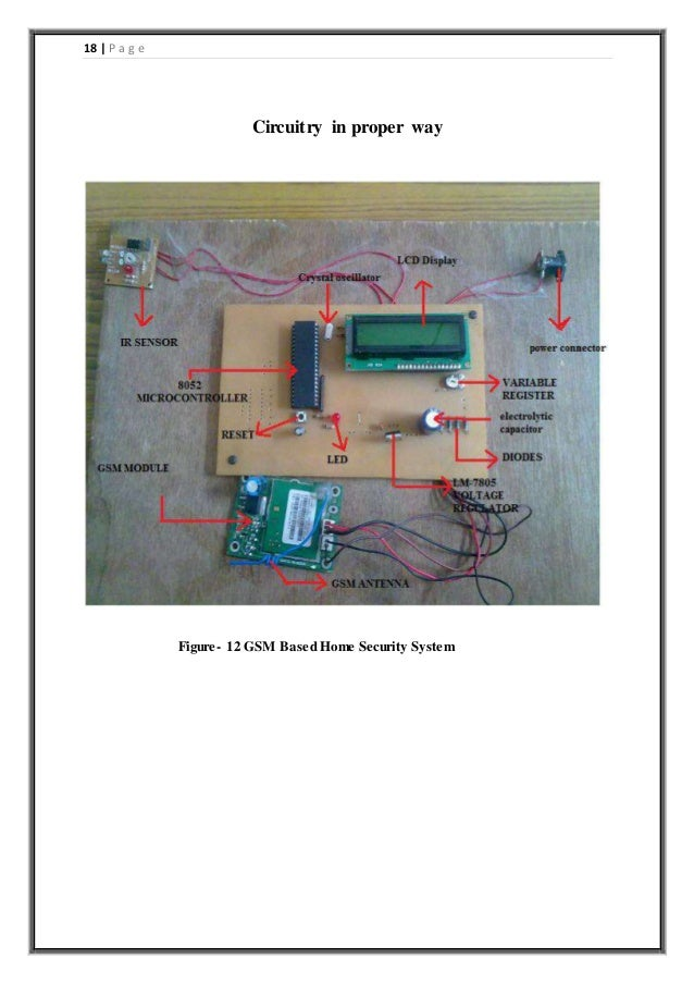 Gsm based home security system project report
