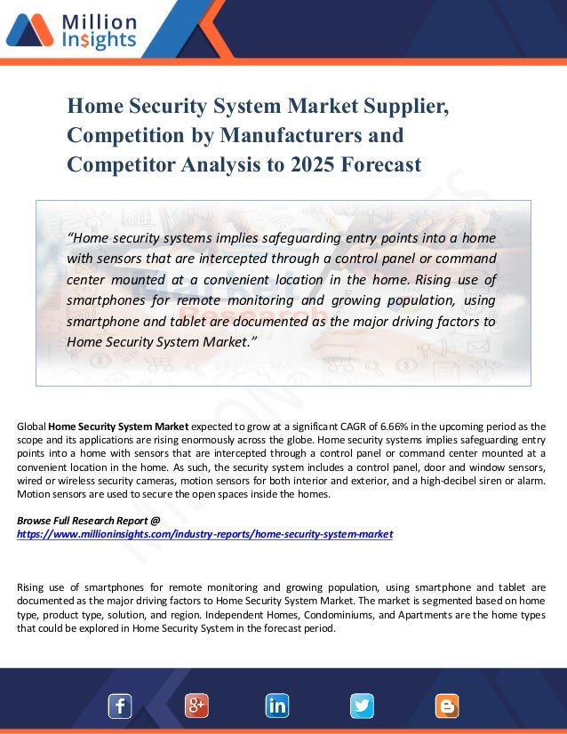 Home Security System Market Manufacturers Analysis, Segmentation and …
