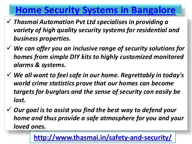Home Security Systems And Solutions In Bangalore