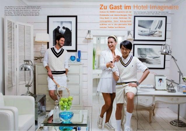 """""""Das Beachhouse ist meine Vorstellung des Hampton Looks"""", so Thái Công . Er und seine Models sind im Tennis-Outfit zu sehe..."""