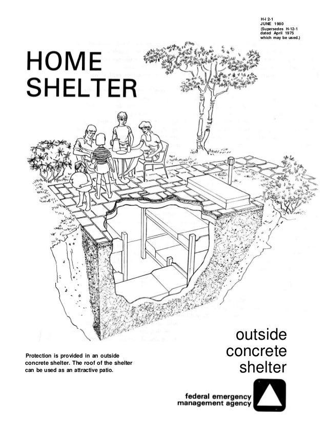Underground shelter designs joy studio design gallery for Household shelter design