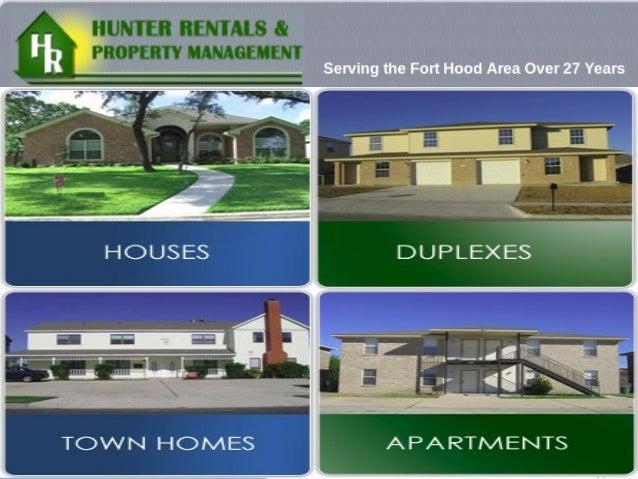 Hunter Rentals & Property Management providesexcellent property management service andquality rental housing in Fort Hood ...