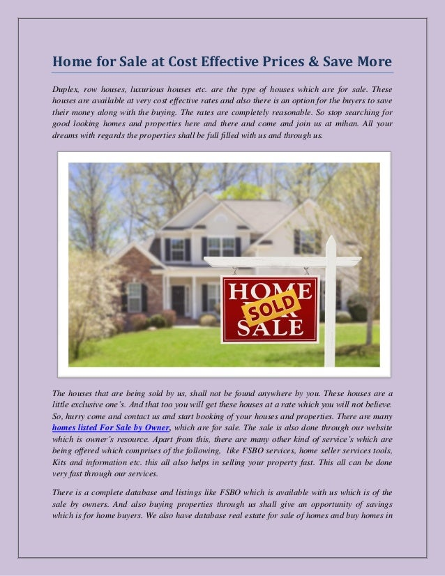 Sell By Owner >> Homes Listed For Sale By Owner Listing A Home For Sale By