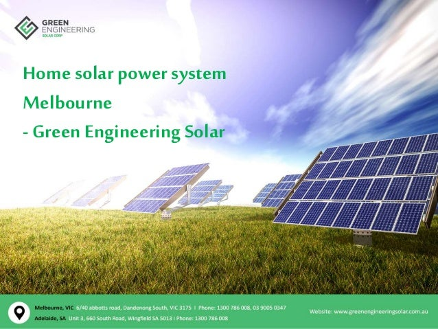 Home solar power system Melbourne - green engineering solar