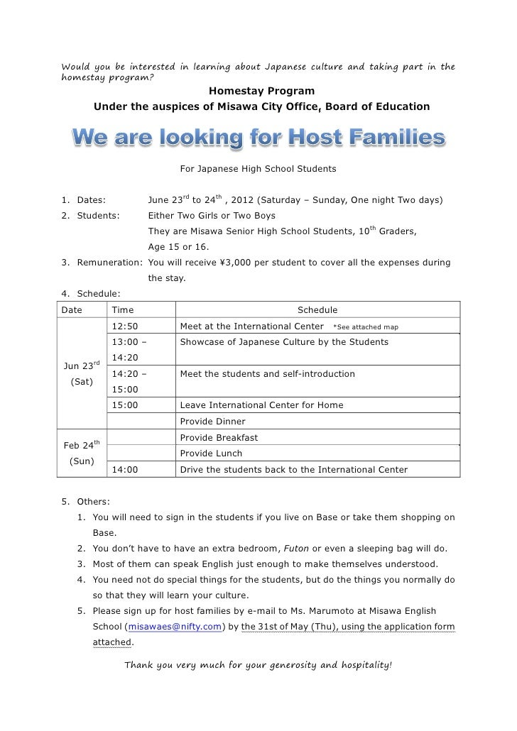 Would you be interested in learning about Japanese culture and taking part in thehomestay program?                        ...