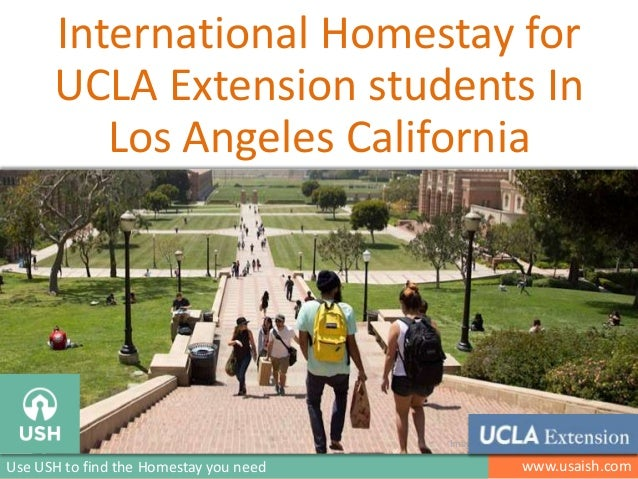 International Homestay for UCLA Extension students In Los Angeles California  Image: http://www.ucla.edu/campus-life/  Use...