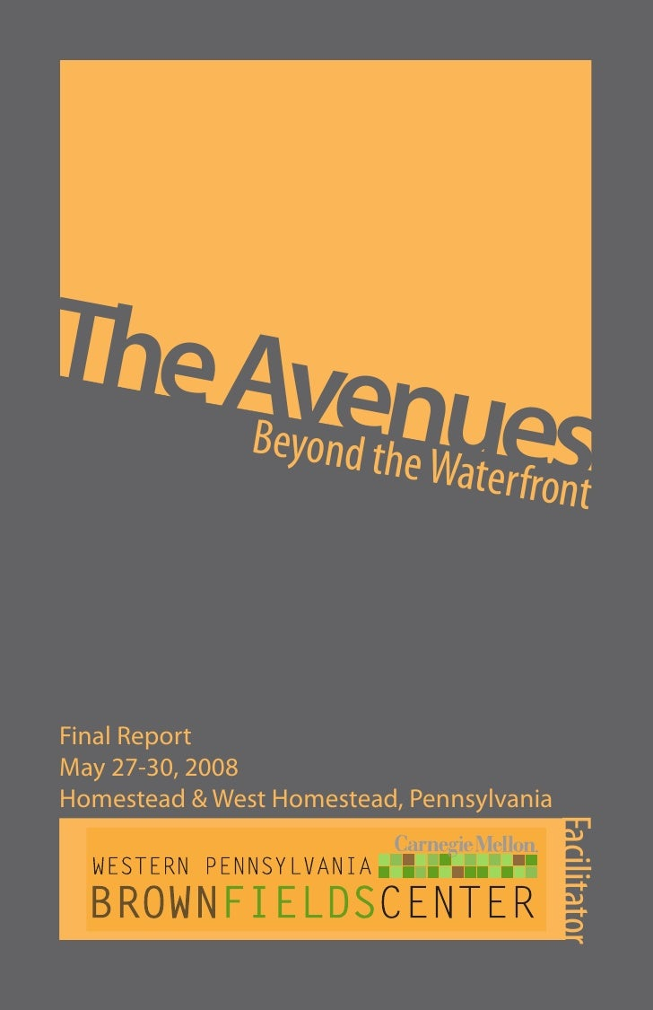 The Ave      Beyond tnues              he Waterfr                        ont    Final Report May 27-30, 2008 Homestead & W...