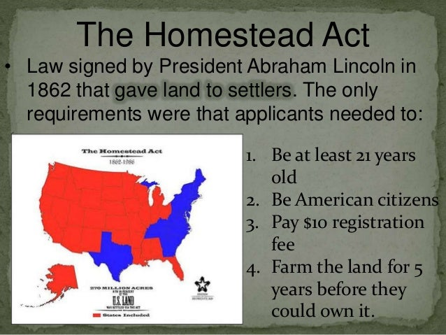 Homestead pacific railway acts copy for How to get free land in usa