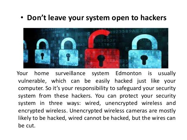 Maintain your Home Surveillance System  Slide 3