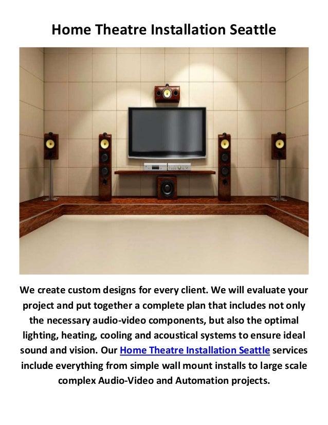 Home theater design installation company in seattle - Home theater design and installation ...