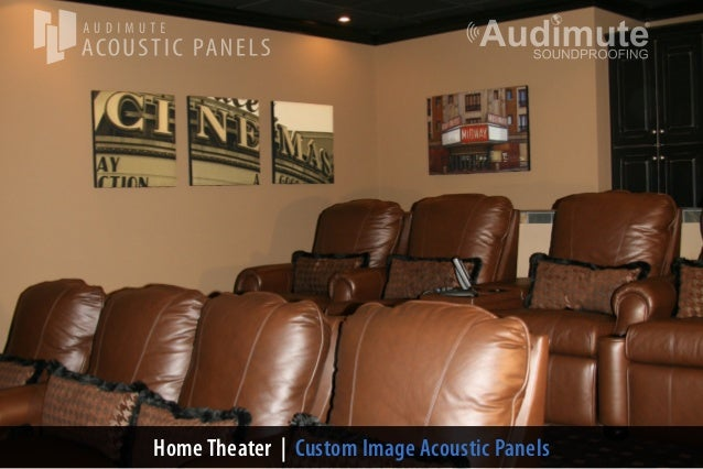 Amazing Audimuteu0027s Home Theater Wall Decor. Home Theater | Custom Image Acoustic  Panels ...