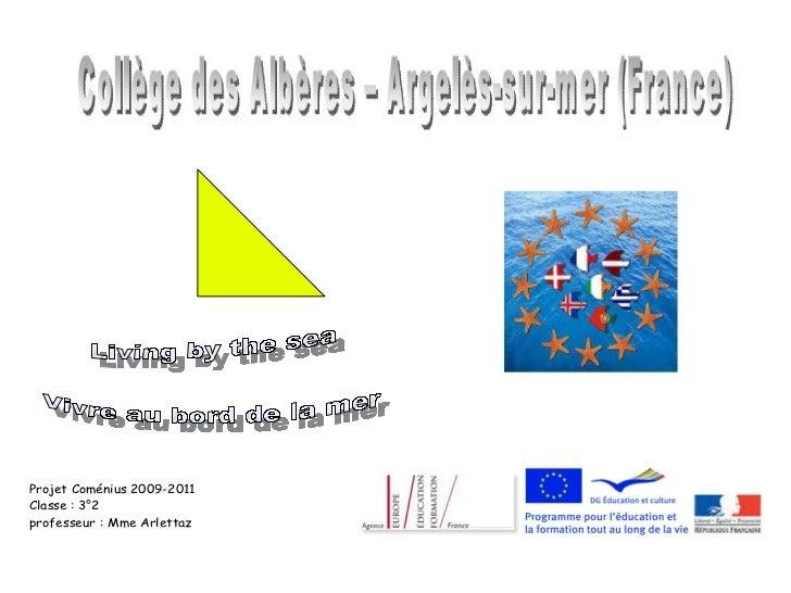 Projet Coménius 2009-2011Classe : 3°2professeur : Mme Arlettaz