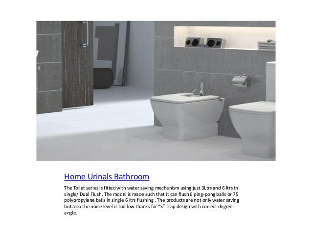 Home Urinals Bathroom The Toilet Series Is Fitted With Water Saving  Mechanism Using Just 3Ltrs And ...