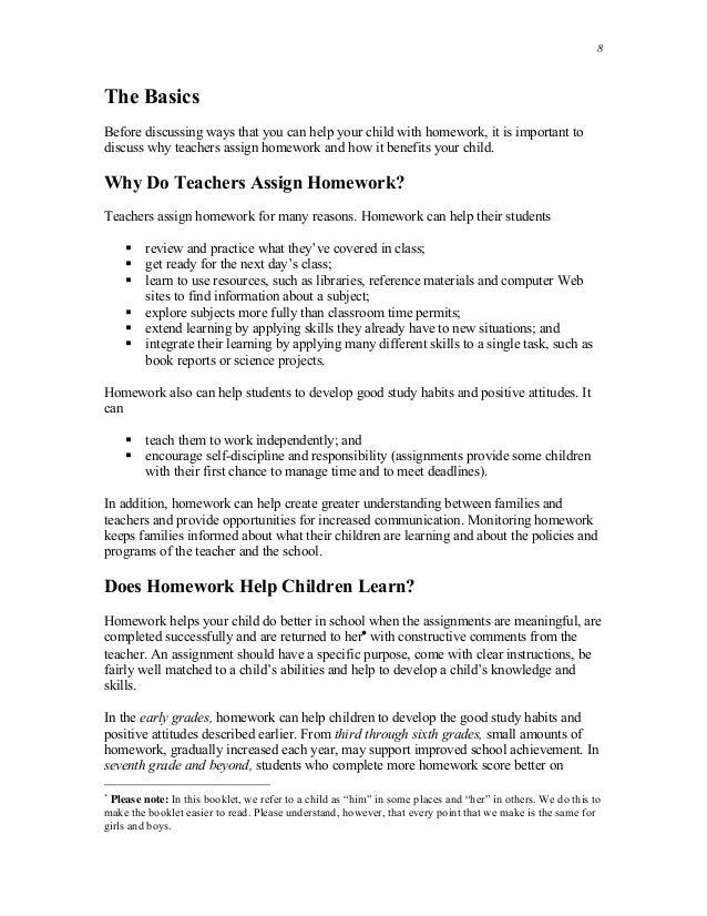 does homework help students
