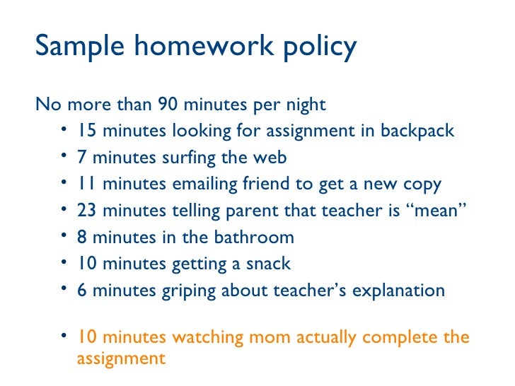 Homework  Effects on Student Achievement        Homework Policy