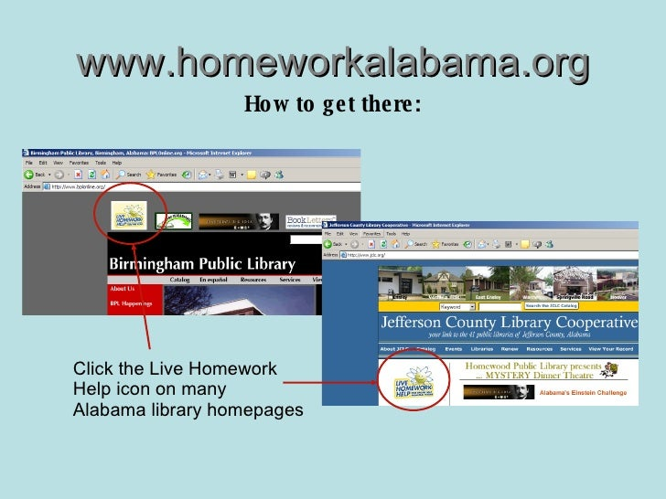 alabama live homework help One of the most important things you can do to alabama live homework help insure your rabbit's health is to select a com is brought to you by the alabama public library service and offers free homework help from subject specialists for k - adult learners and help for ged.