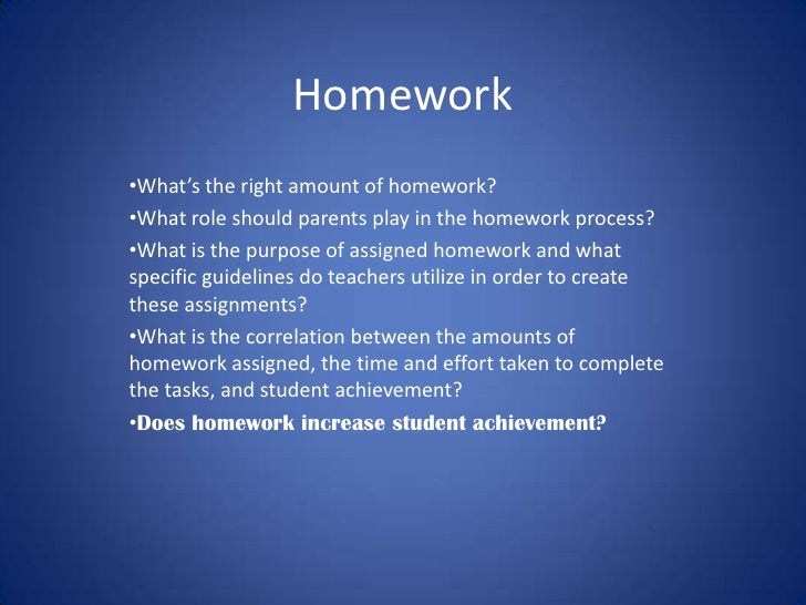 Whats Right Amount Of Homework >> Homework 1