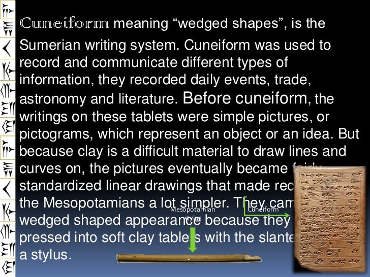 different kinds of letters and its meaning mesopotamia ppt cuneiform 17890