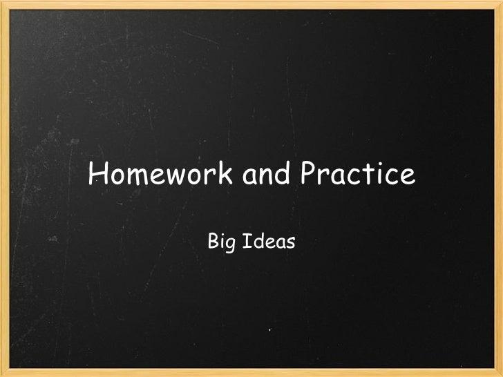 Homework and Practice Big Ideas