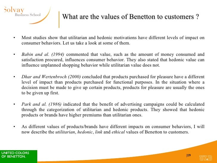 benetton imc case study Question assignment one –benetton case (worth 25 points) complete the scenarios below you will upload a word document with your completed answers to blackboard learn.
