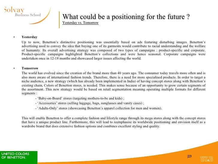 Benetton (A) HBS Case Analysis - Case Study Analysis