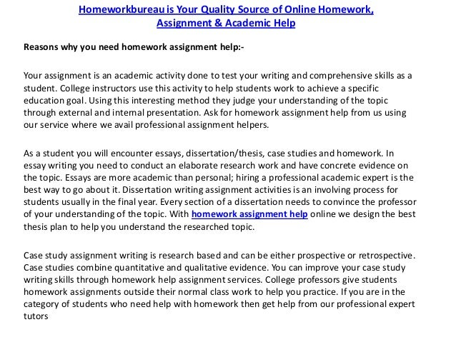 coursework writing assignment help services at homework bureau homework then get help from our professional expert tutors 2