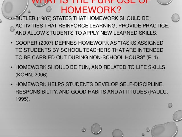What is the purpose of homework  SlidePlayer