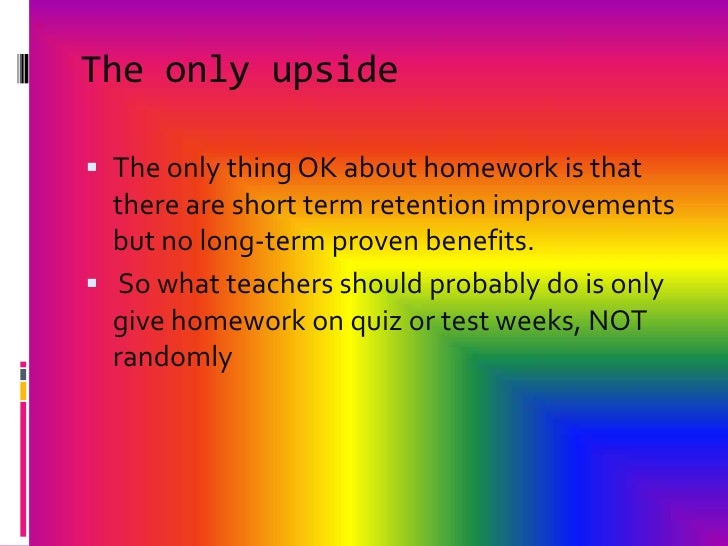 why do we get homework I think we should not have homework on the weekends because we have to many stuff to do on the weekends like sports and games to go to and weekends are like vactions so thats is why i think we should not have homework on the weekendsi hope that it is good.