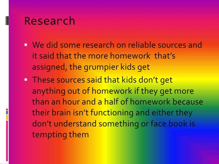 Good reasons why homework should be banned the sunday