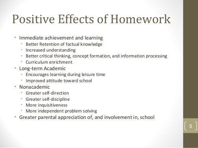 positive influences for homework