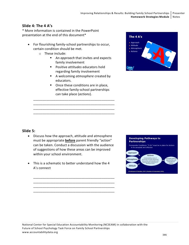 Parent homework involvement for Parent involvement plan template