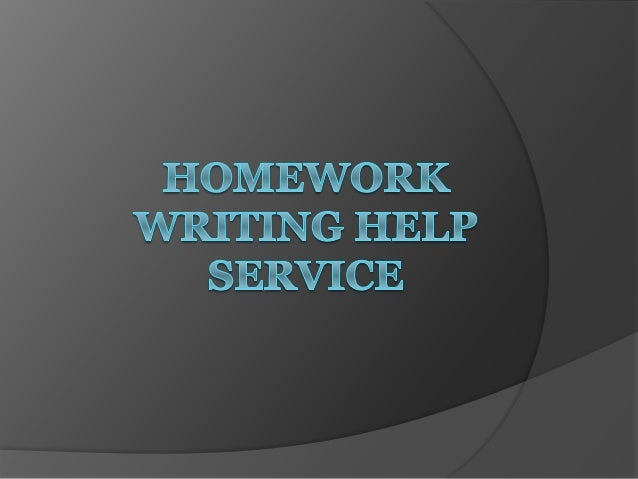 Homework writing services helper